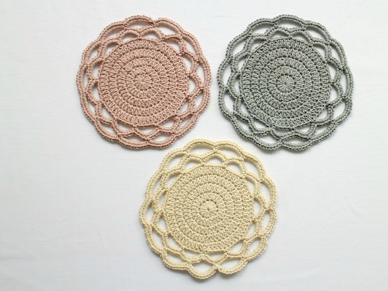 Image result for crochet coasters